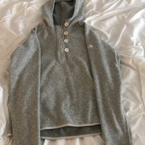 Grey north face sweater